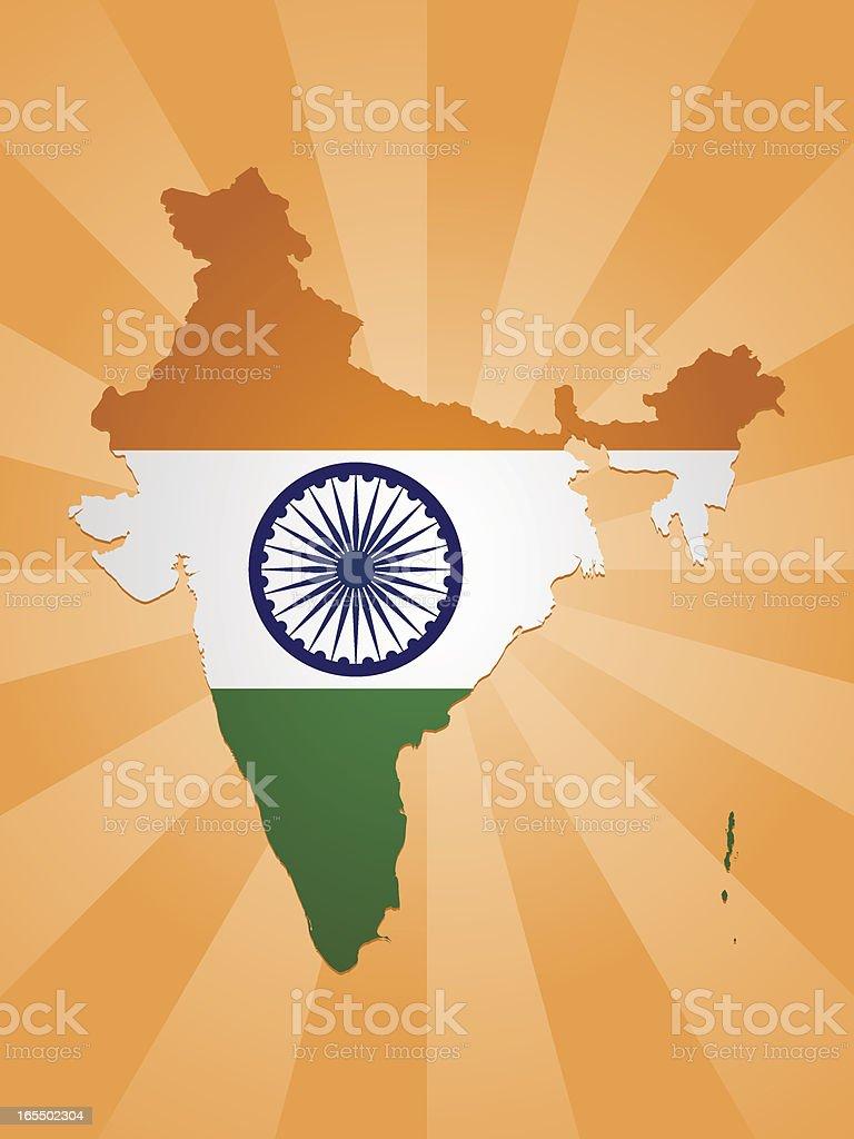India Flag Background vector art illustration