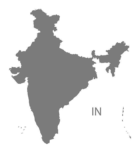 Vectores de india map grey y illustraciones libre de derechos istock india map grey ilustracin de arte vectorial gumiabroncs Gallery