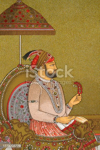 istock Indian man of the court of the Mughal emperor 1273203729