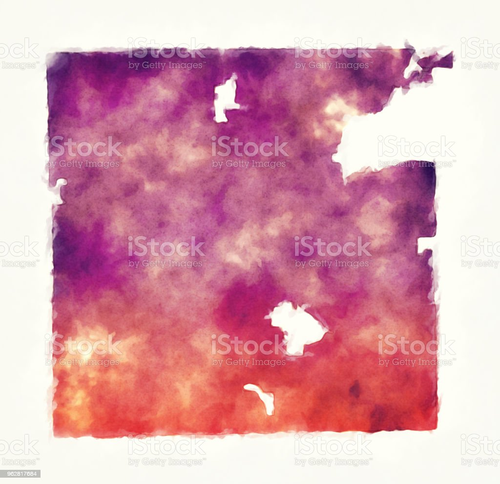 Indianapolis Indiana city watercolor map in front of a white background vector art illustration
