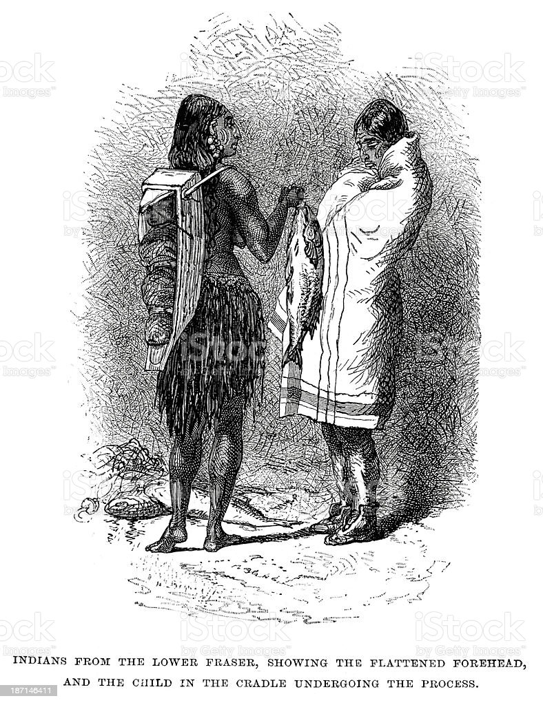 Indians from the Lower Fraser royalty-free indians from the lower fraser stock vector art & more images of 19th century
