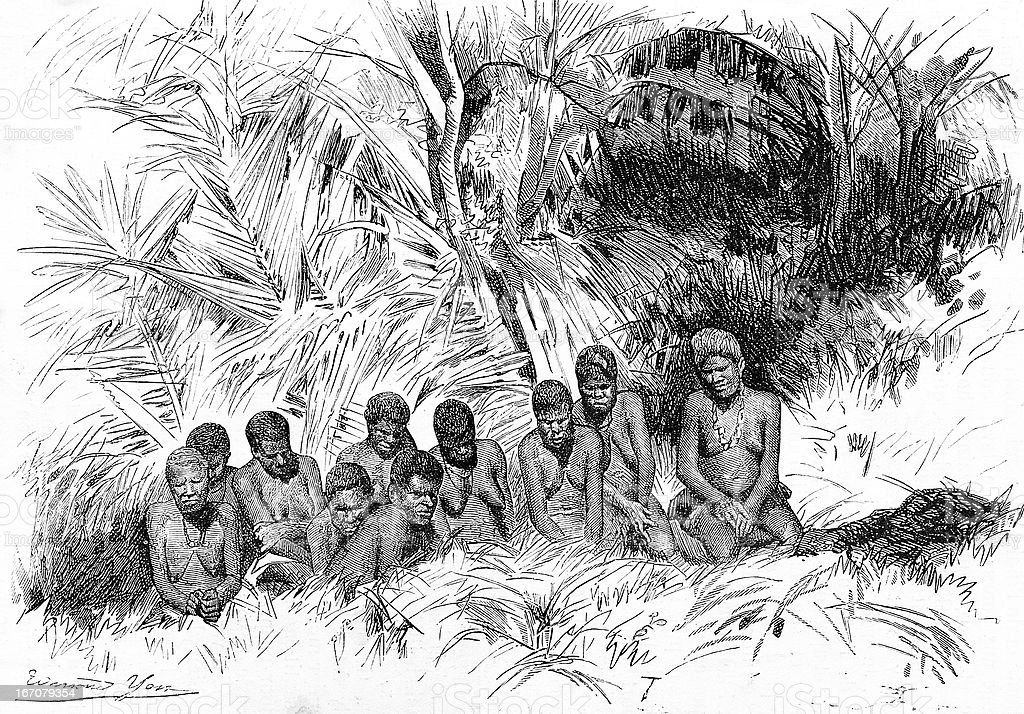 Indigenous in New Caledonia royalty-free indigenous in new caledonia stock vector art & more images of 19th century style