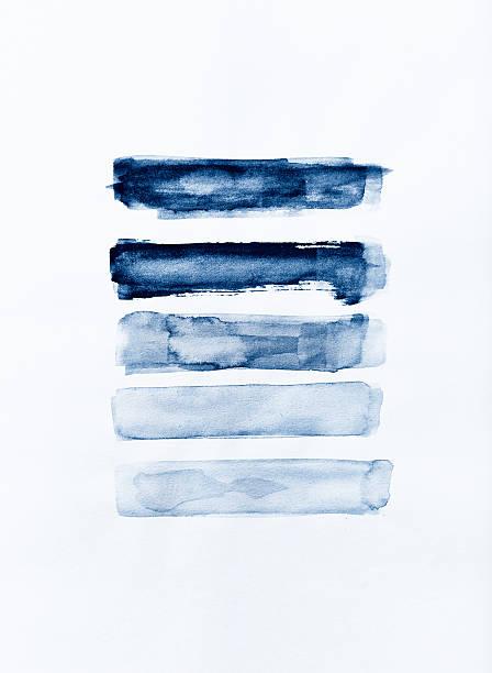 indigo watercolor strokes - 海軍藍 幅插畫檔、美工圖案、卡通及圖標