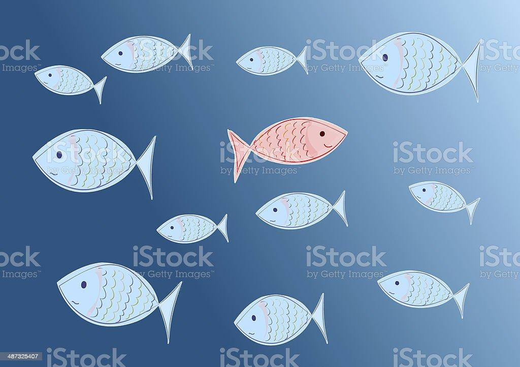 individualism vector art illustration