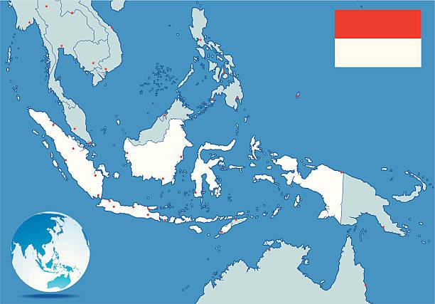 indonesien karte - lombok stock-grafiken, -clipart, -cartoons und -symbole