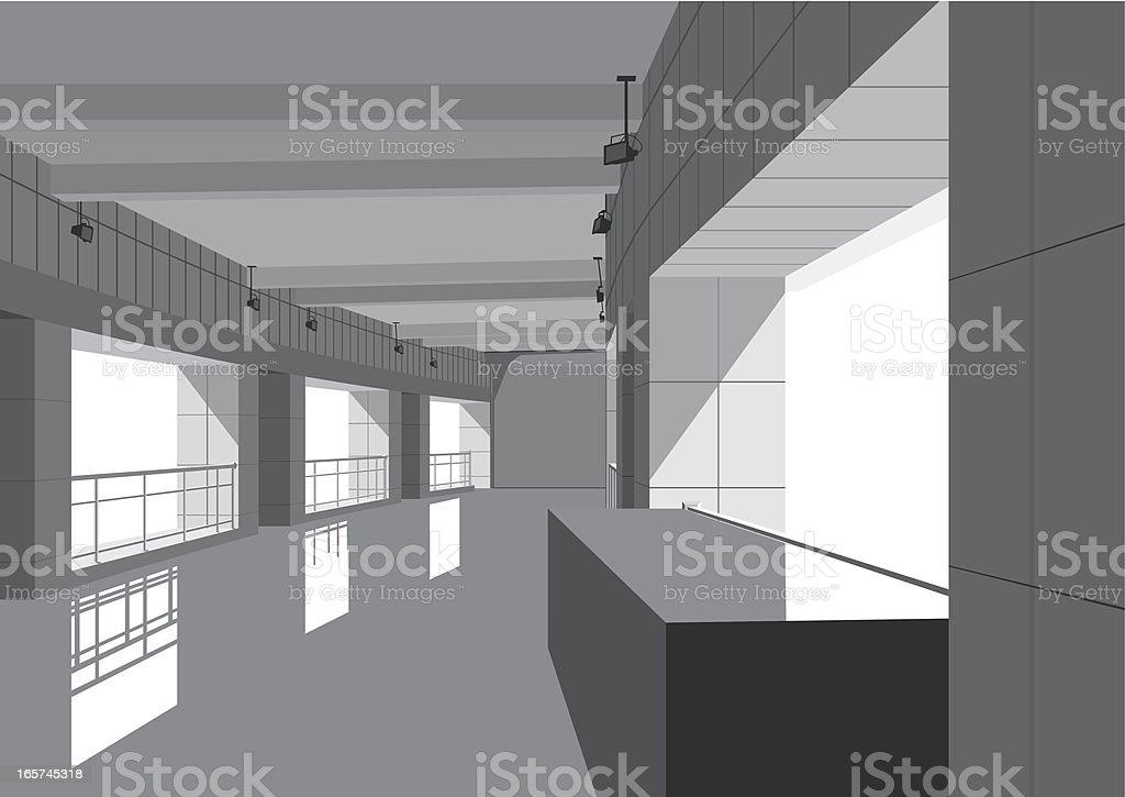 indoor of modern building royalty-free stock vector art