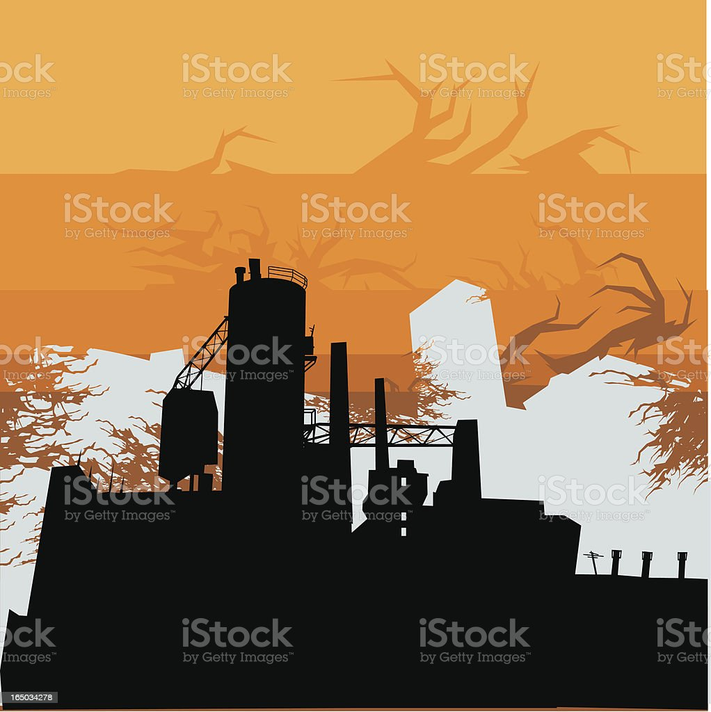 Industrial Background royalty-free stock vector art
