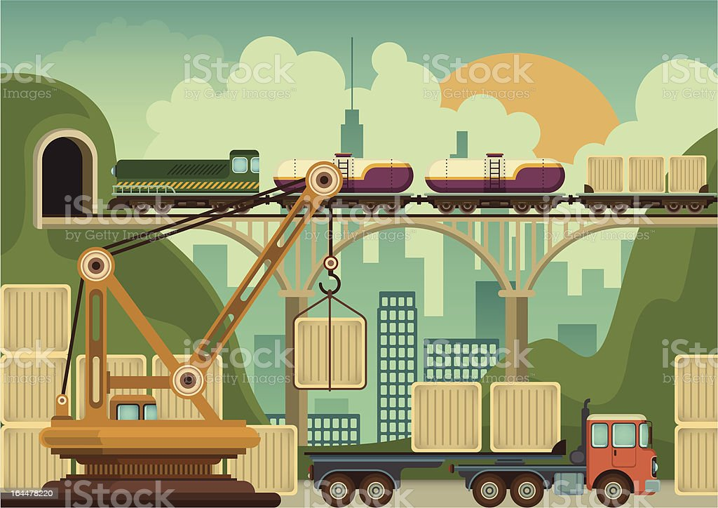 Industrial city zone. royalty-free stock vector art
