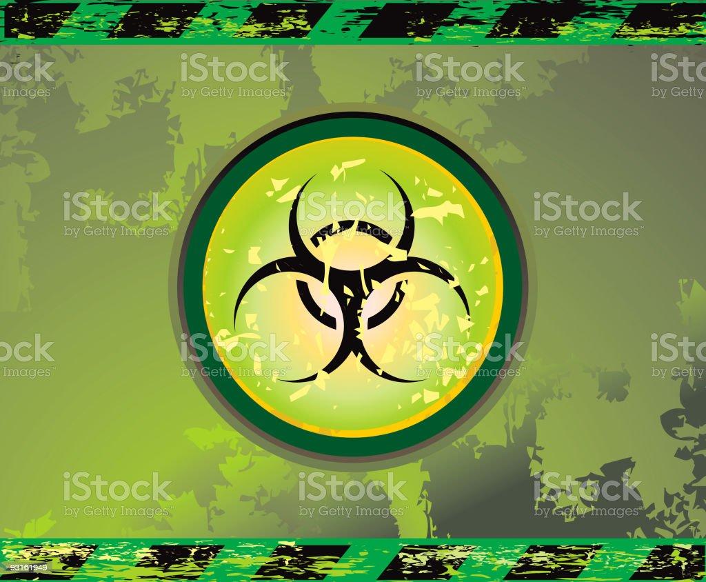 industrial grunge biohazard light sign - VECTOR royalty-free stock vector art