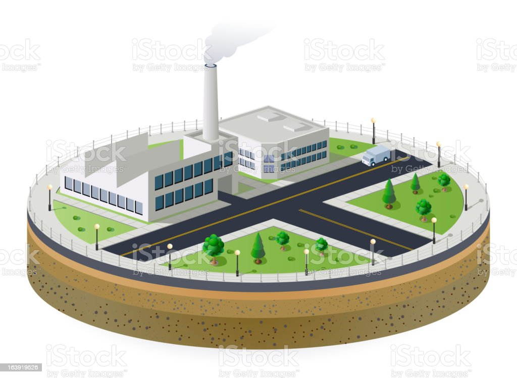 Industrial plant royalty-free stock vector art