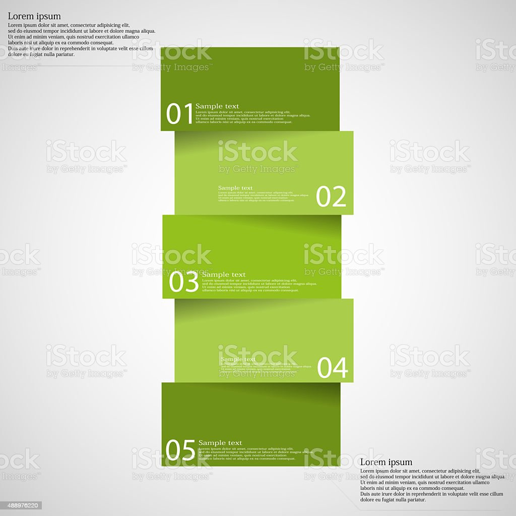 Infographic templete with motif of bar divided to five parts vector art illustration