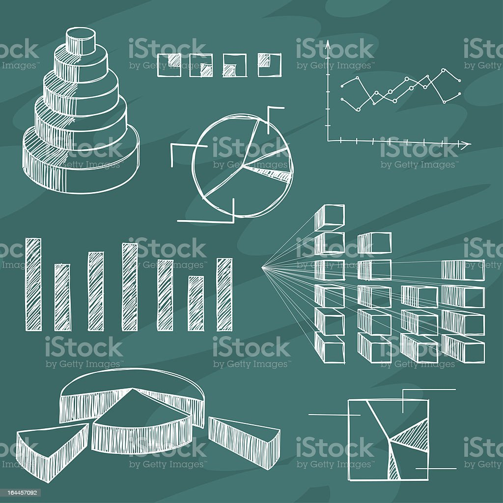 Infographics elements sketch royalty-free stock vector art