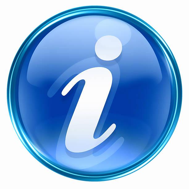 information Symbol blau, isoliert auf weißem Hintergrund – Vektorgrafik