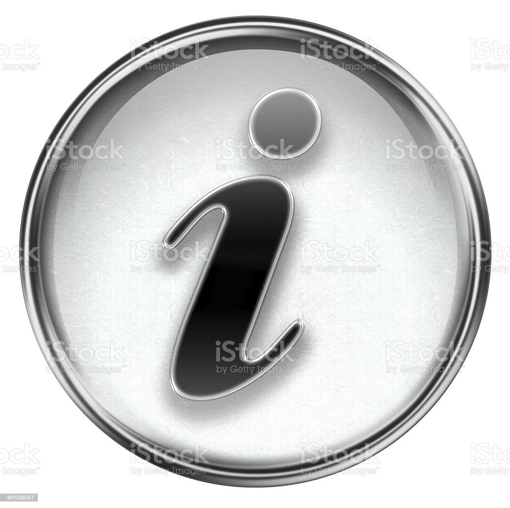 information symbol Grau, isoliert auf weißem Hintergrund – Vektorgrafik