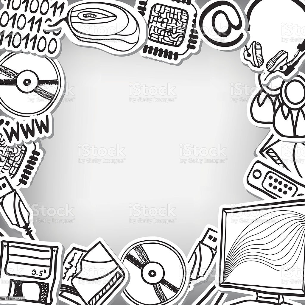 Information Technology Devices Frame Background Stock ...