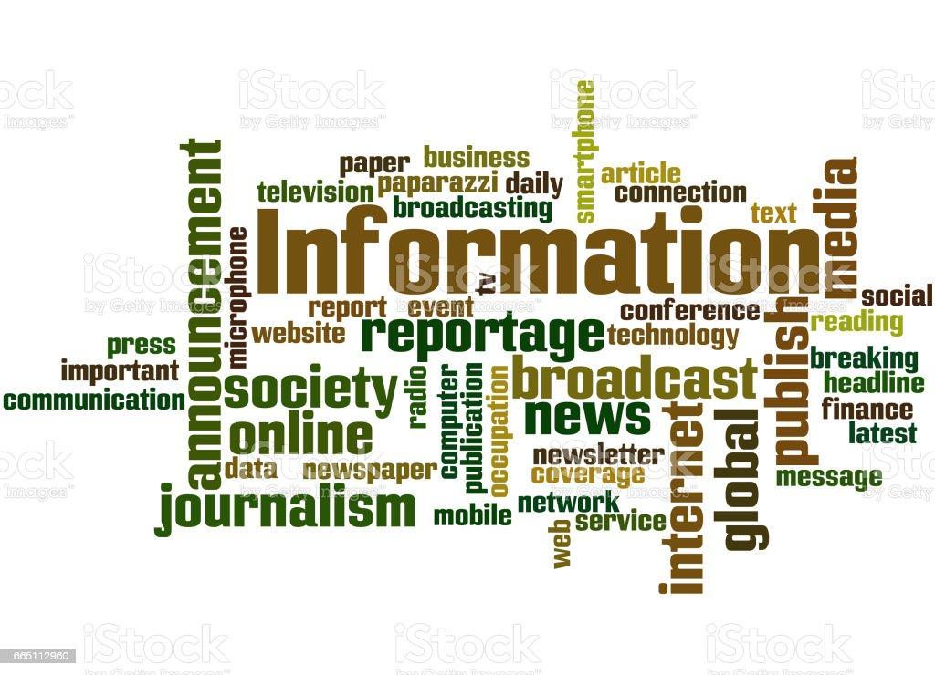 Information, word cloud concept 9 vector art illustration