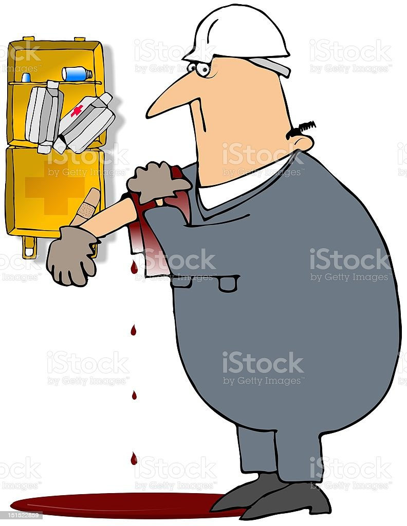 Injured Worker royalty-free injured worker stock vector art & more images of adhesive bandage
