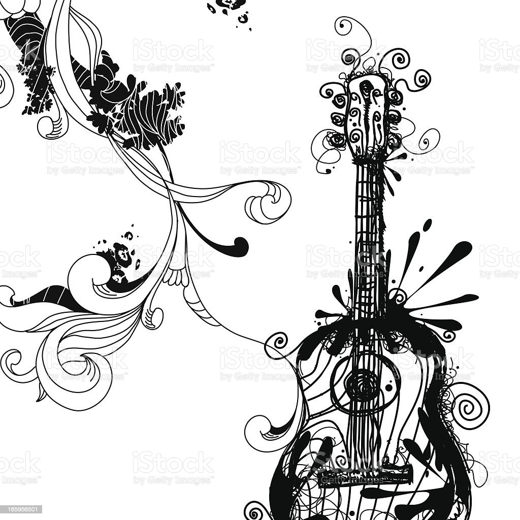 Ink Guitar Design Royalty Free Stock Vector Art Amp More Images