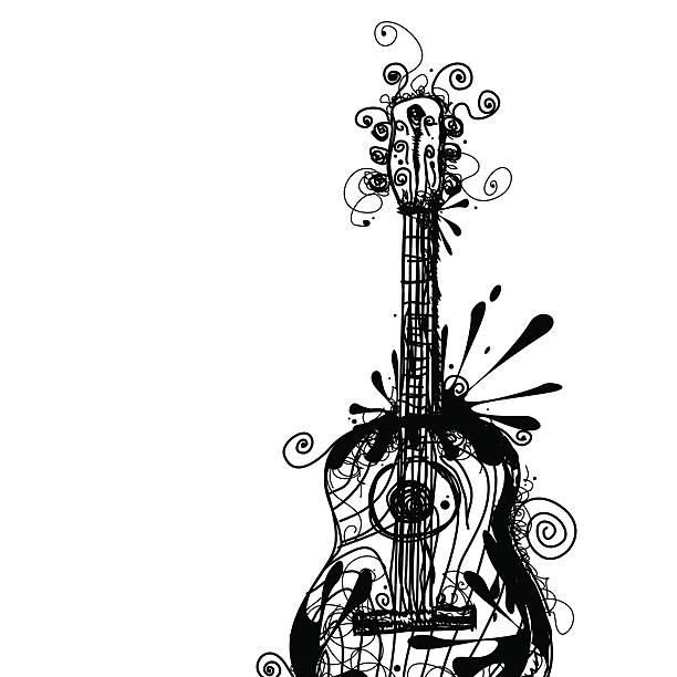 Ink Guitar vektorkonstillustration