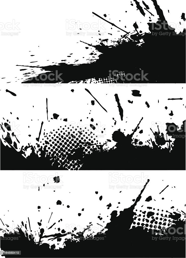 Ink splashes banners royalty-free stock vector art