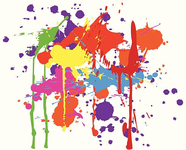 ink splats vector art illustration