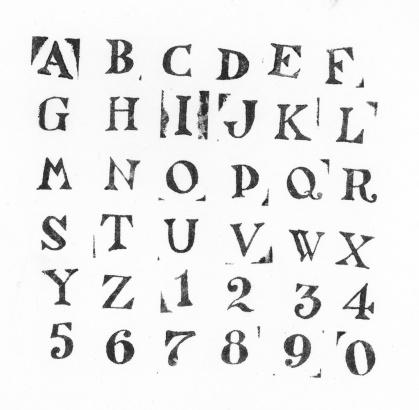 Ink Stamp Alphabet