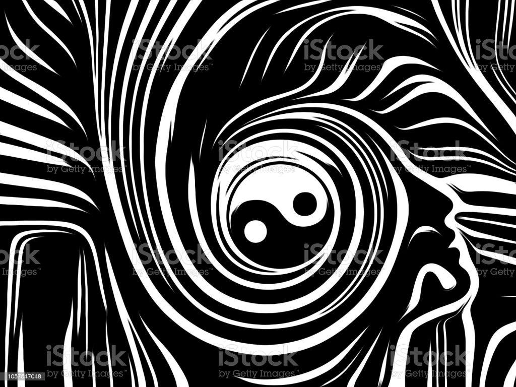 Inner Tao vector art illustration