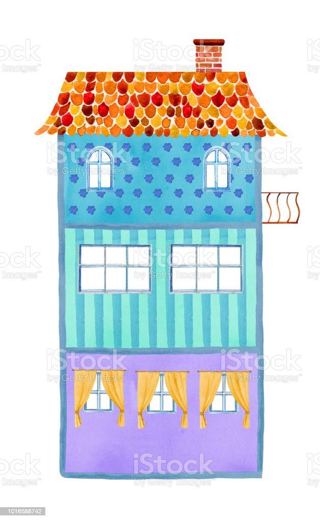 Inside View Of Empty Threestory Cartoon Paper Doll House