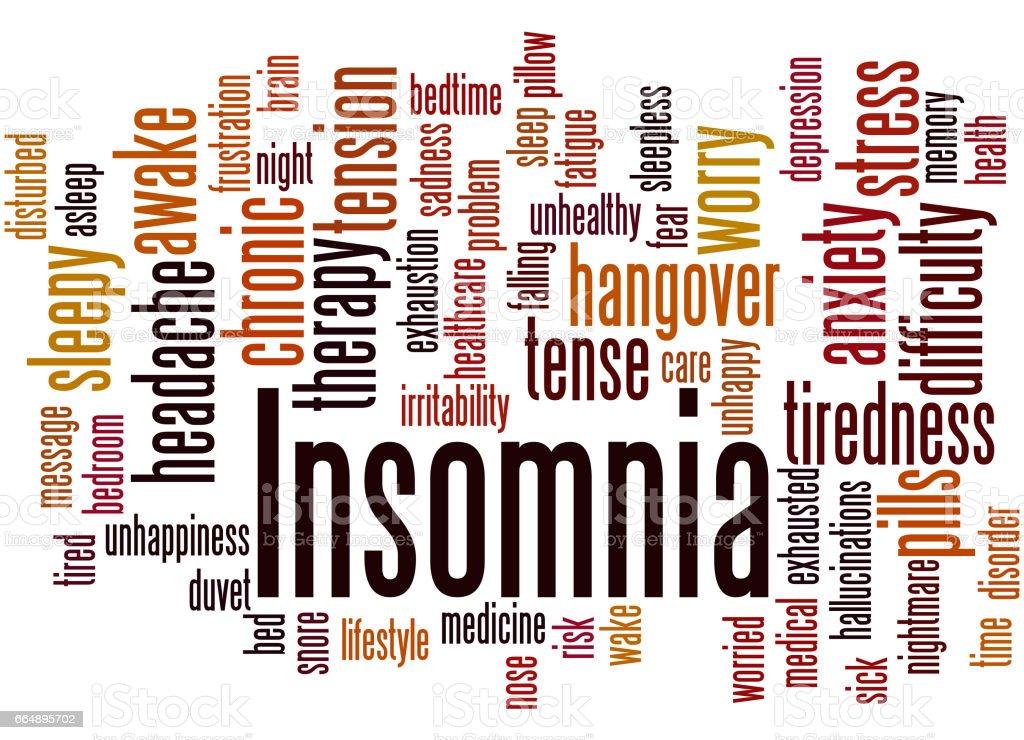 Insomnia, word cloud concept 8 insomnia word cloud concept 8 - immagini vettoriali stock e altre immagini di accudire royalty-free
