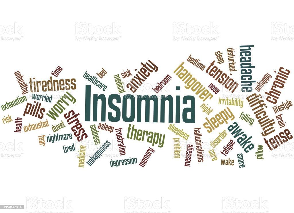 Insomnia, word cloud concept 9 insomnia word cloud concept 9 - immagini vettoriali stock e altre immagini di accudire royalty-free