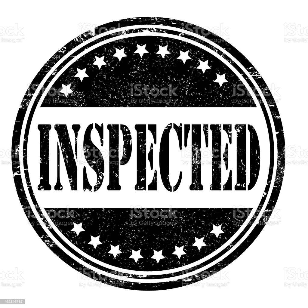 Inspected stamp royalty-free stock vector art