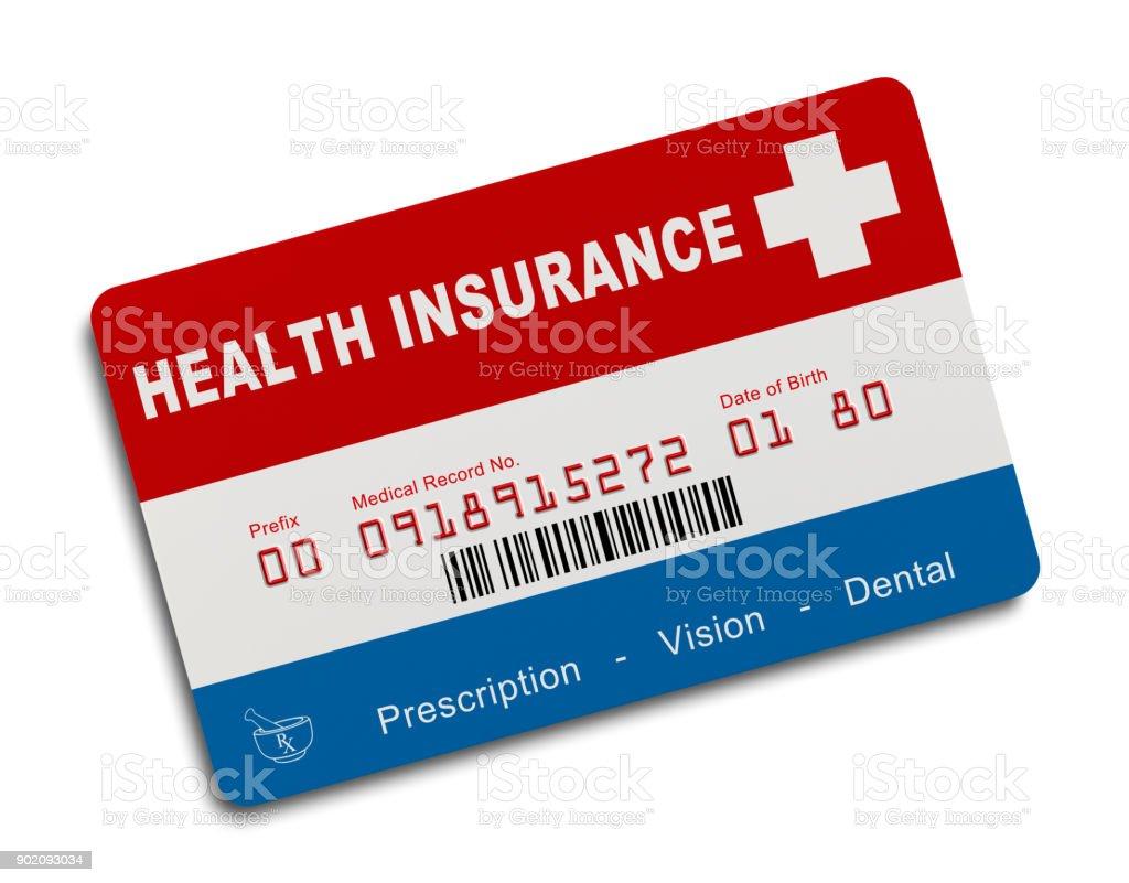 US Insurance Card vector art illustration