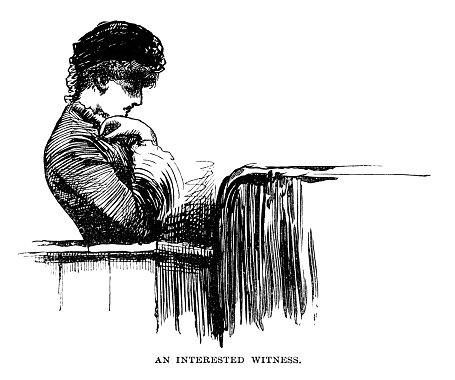 Interested witness - Scanned 1884 Engraving