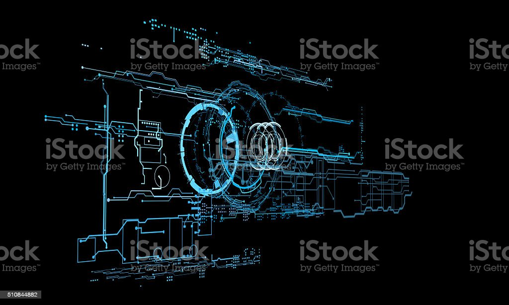 HUD interface concept futuristic virtual graphic touch user vector art illustration