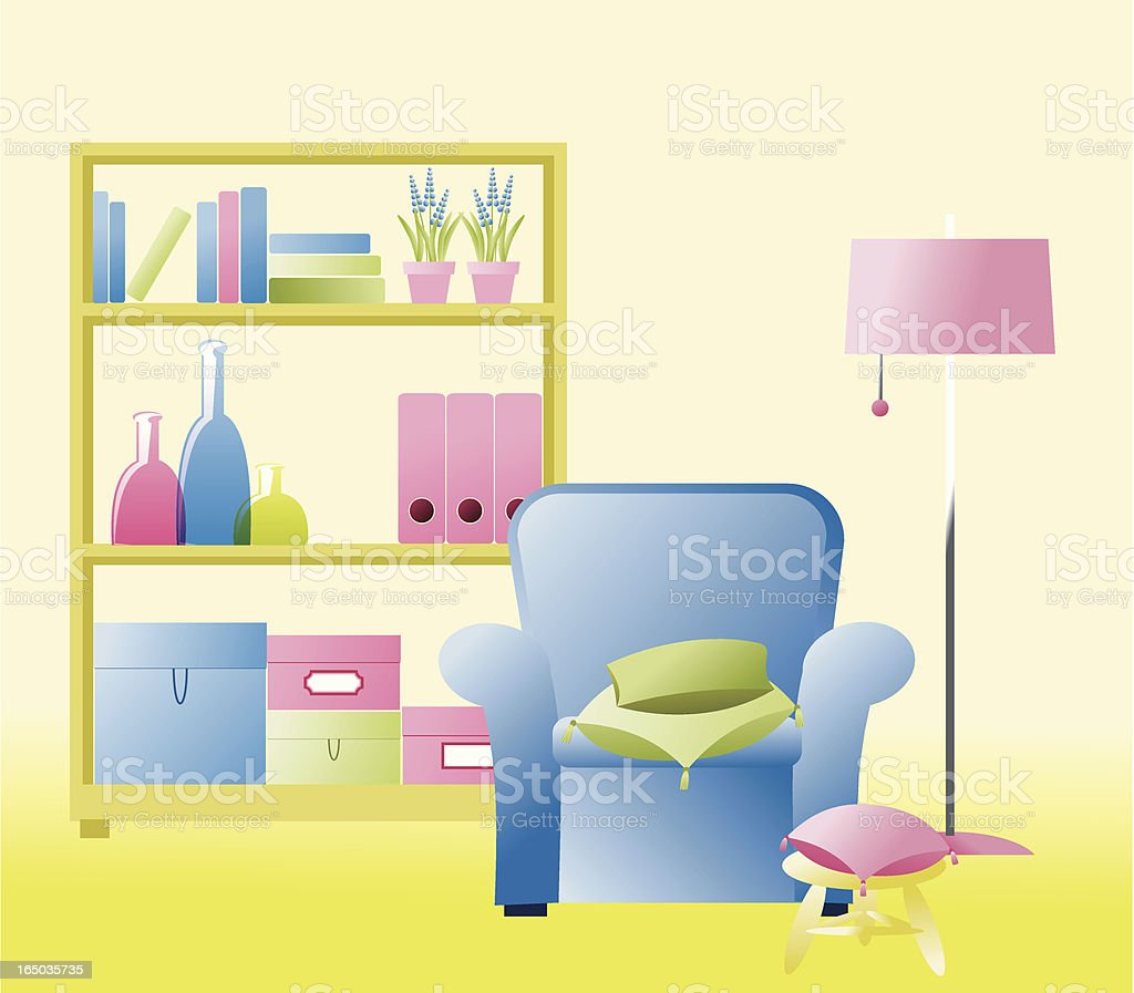 Interior in spring colors royalty-free interior in spring colors stock vector art & more images of book