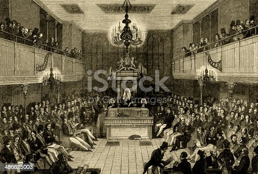 istock Interior of the House of Commons before 1834 486625003