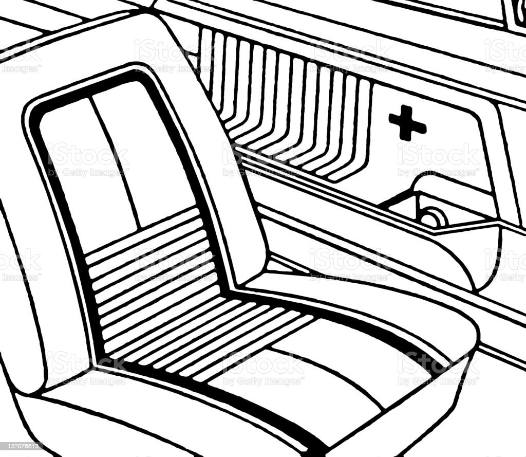 Interior of Vintage Car royalty-free stock vector art