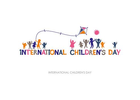 Internationale Dag Van Het Kind Heldere Veelkleurige Platte Ontwerp Van Horizontale Banner Stockvectorkunst en meer beelden van Baby