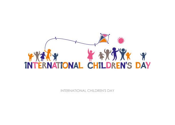 stockillustraties, clipart, cartoons en iconen met internationale dag van het kind. heldere veelkleurige platte ontwerp van horizontale banner. - festival logo baby