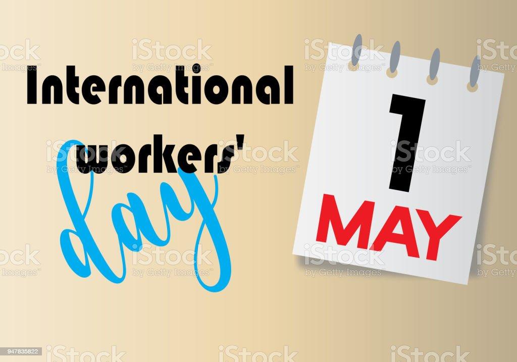 Día Internacional de los trabajadores - ilustración de arte vectorial