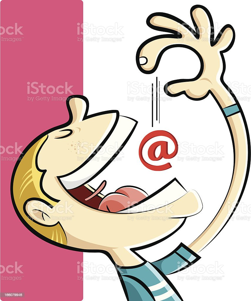 internet addict royalty-free internet addict stock vector art & more images of 'at' symbol