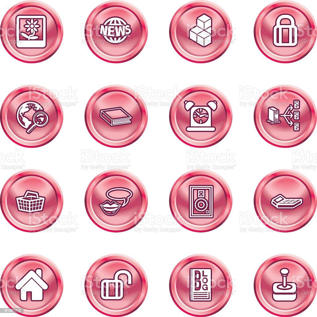 Internet and Computing Media Icons royalty-free stock vector art