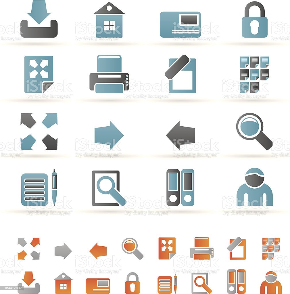 Internet and Web Site Icons royalty-free stock vector art