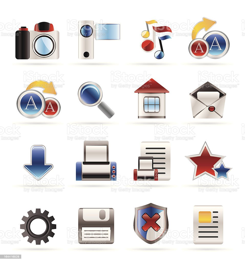 Internet and Website Icons royalty-free stock vector art