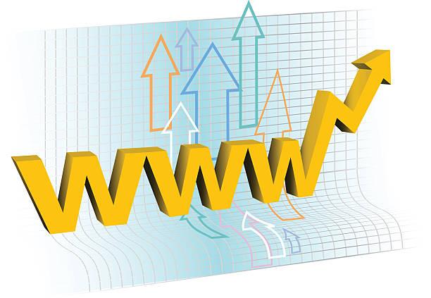 Internet business success  leite stock illustrations