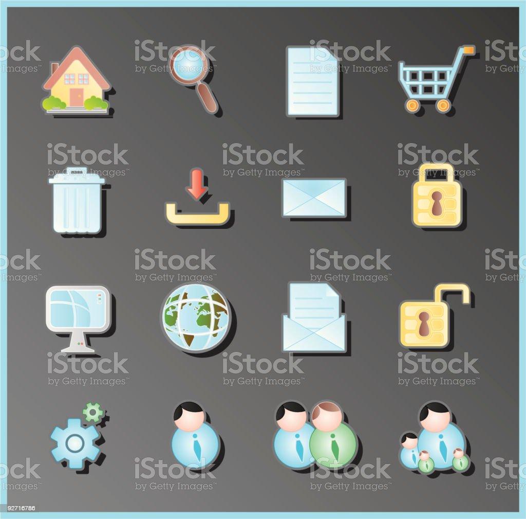 internet icon royalty-free stock vector art