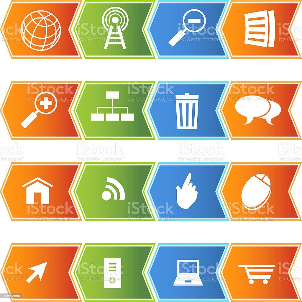 Internet Icons: Chevron Style royalty-free internet icons chevron style stock vector art & more images of arrow symbol