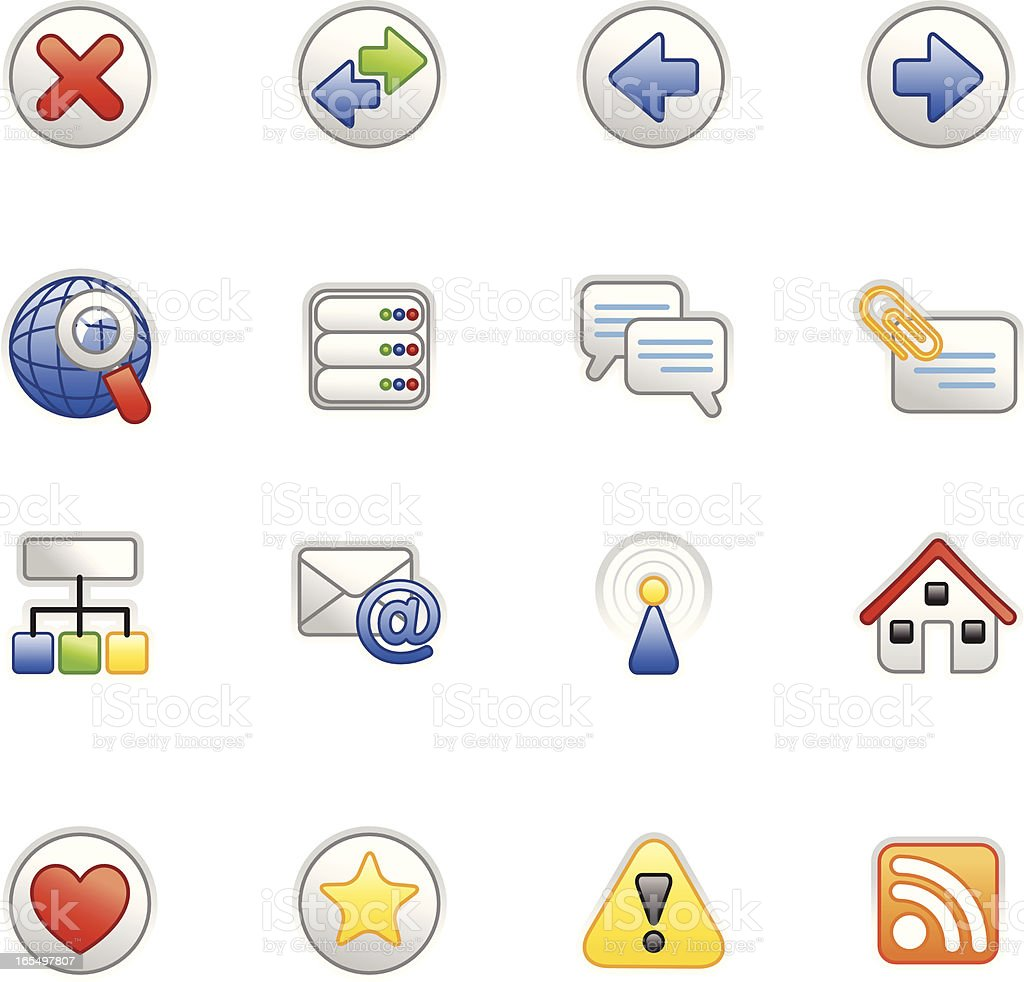 Internet icons (colored series) royalty-free stock vector art