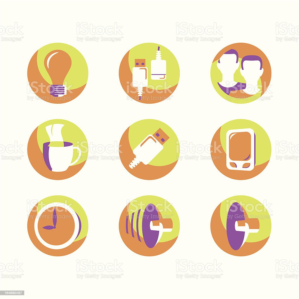 Internet Icons Series royalty-free stock vector art