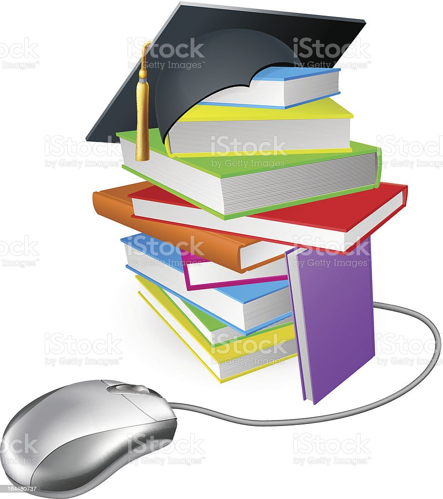 Internet learning concept royalty-free stock vector art